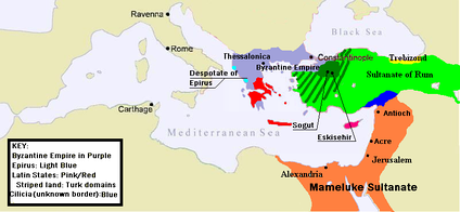 Byzantium at the beginning of Andronikos III's reign.