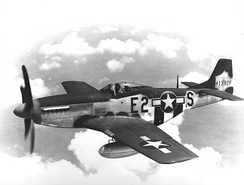 North American P-51D-5-NA Mustang #44-13926 from the 375th Fighter Squadron. Aircraft crashed on 9 August 1944, and the pilot was killed