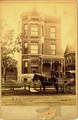 This is an 1880s photo of 653 W Wrightwood (now 655 W Wrightwood) in the Lincoln Park neighborhood of Chicago, Illinois
