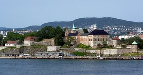 Akershus Castle and Fortress seen from Oslofjord