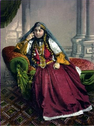 Azeri female from Baku (1900 postcard)