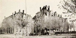 Historic photo of Baird College in Clinton