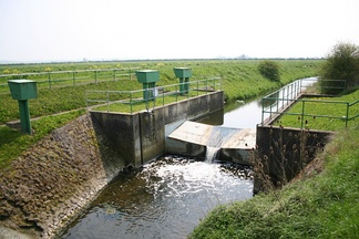 Brant Broughton Gauging Station on the River Brant in Lincolnshire, England.