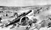 BL 8-inch Howitzer Mk 1 – 5 8 in (200 mm) howitzers of the 39th Siege Battery, Royal Garrison Artillery, in action near Fricourt in World War I.