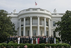 Alpha Phi Alpha members were among the list of some of the 600 expected guests of lawmakers, prominent black leaders and civil rights veterans on the South Lawn of the White House as President George W. Bush talked about the reauthorization of the Voting Rights Act.