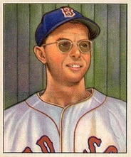 A 1950 Bowman Gum baseball card of Dom DiMaggio
