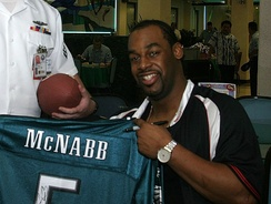 McNabb during his tenure with the Eagles