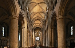 The nave of Durham Cathedral.