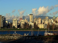 High-rise buildings in the English Bay area of Vancouver, British Columbia, Canada
