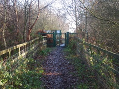 The entrance onto Thorne Moors National Nature Reserve from Moorends