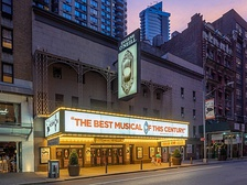 The Eugene O'Neill Theatre with The Book of Mormon in 2019