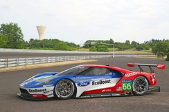 Ford GT GTE-Pro, which competed in the FIA World Endurance Championship from 2016 until the end of the 2018-19 season and the WeatherTech SportsCar Championship from the 2016 season until the end of the 2019 season.