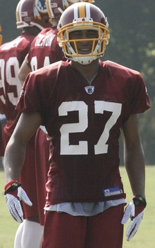 Smoot at Washington Redskins training camp in 2008.