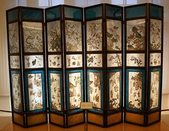 Chinese folding screen used at the Austrian imperial court, 18th century, the Imperial Furniture Collection
