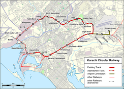 The Karachi Circular Railway route