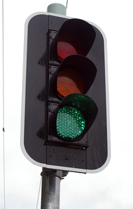 An example of a LED traffic light in Australia