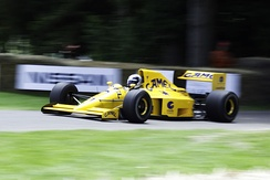 The 1990 Lotus 102 featured a Lamborghini V12.