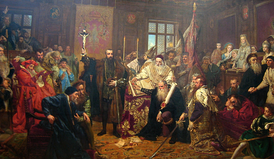 Union of Lublin, painting by Jan Matejko at the Lublin Museum