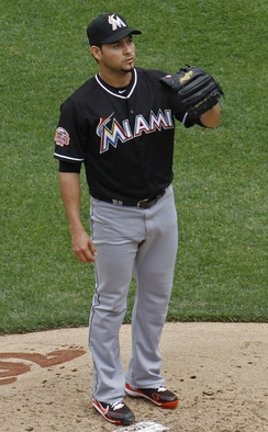 Sánchez with the Miami Marlins in 2012