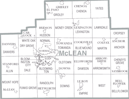 Map of McLean County, Illinois
