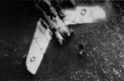 Photograph of a wrecked Mikoyan-Gurevich MiG-15 fighter that was analyzed by United Nations' forces in the Korean War.