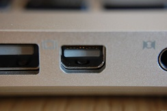 A Mini DisplayPort connector