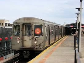 The D service of the New York City Subway system connects Bensonhurst Chinatown to Manhattan's Chinatown.