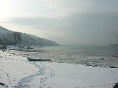 Danube at Nikopol, Bulgaria in winter