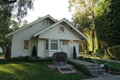 Richard Nixon's birthplace bungalow.