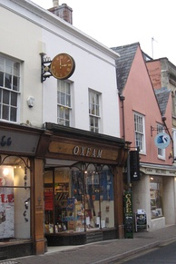 Oxfam shop in Cirencester, England