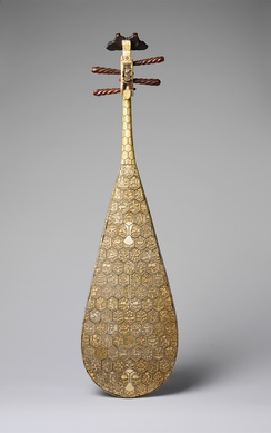 Decorated back of a pipa from the Ming dynasty