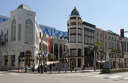 Beverly Hills at the corner of Rodeo Driveand Via Rodeo in 2012