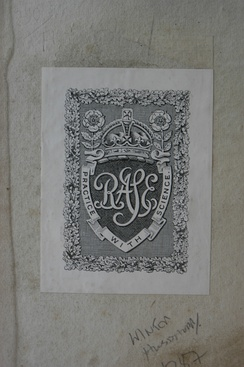 Royal Agricultural Society of England (RASE) bookplate.