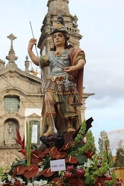 Archangel Michael at a Portuguese feast in Cabeceiras de Basto
