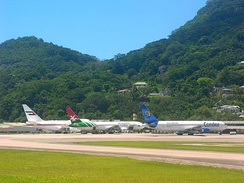 Aircraft at Seychelles International Airport