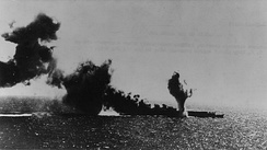 Shōhō is bombed and torpedoed by U.S. carrier aircraft.