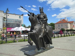 Statue of Casimir IV Jagiellon in Malbork
