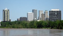 The Arkansas River marks the division between West Tulsa and other regions of the city.