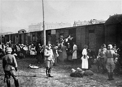 Deportation to Treblinka at the Umschlagplatz