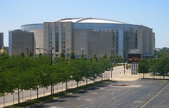 The United Center was the site of the 1996 Democratic National Convention