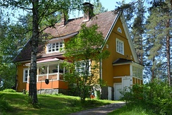 A traditional Finnish house from the beginning of 20th century in Jyväskylä