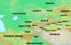 The Western Regions in the first century BCE.