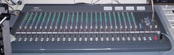 Yamaha 2403 audio mixing console in a 'live' mixing application
