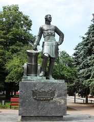 Azov. Monument to Peter I. 1996
