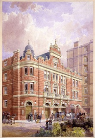 Original facade of the Savoy Theatre c.1881