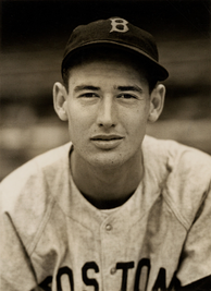 Ted Williams played for the Red Sox in parts of four decades, 1939–1960