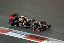 Kimi Räikkönen took Lotus's first victory of the 2012 season in Abu Dhabi after he inherited the lead following Lewis Hamilton's retirement from the race.[309]