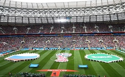 Pre-match ceremony prior to the opening game, Russia v Saudi Arabia