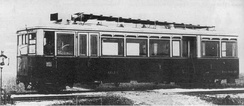 Petrol-electric Weitzer railmotor, first 1903, series 1906