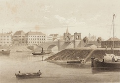The Stone Bridge and the Old Town in 1860